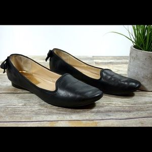 MARC FISHER•Leather Black Ballet Bow Flats size 9
